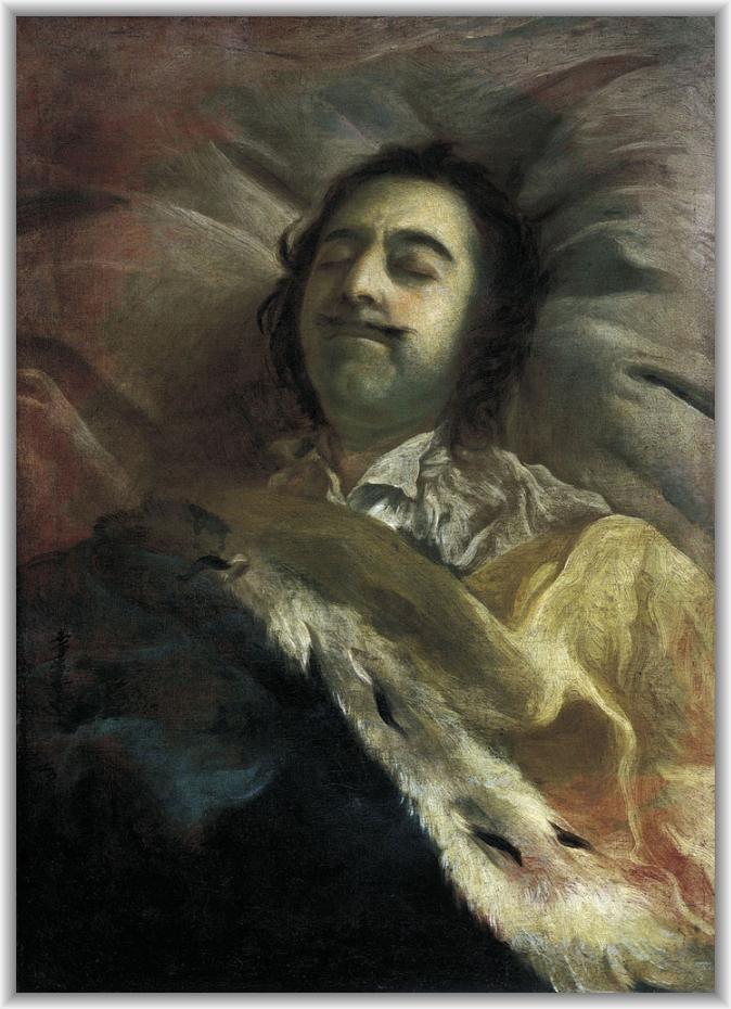 Петр i на смертном ложе 1725 холст